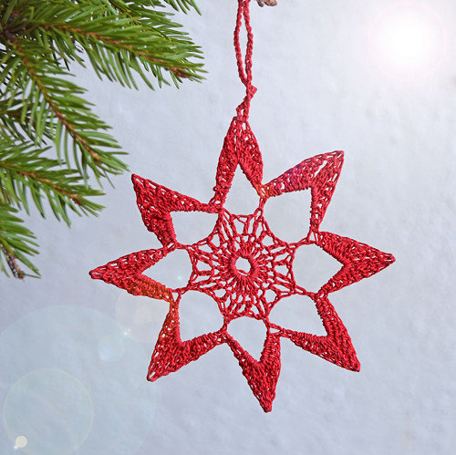 Vánoční hvězdička 5 - červená