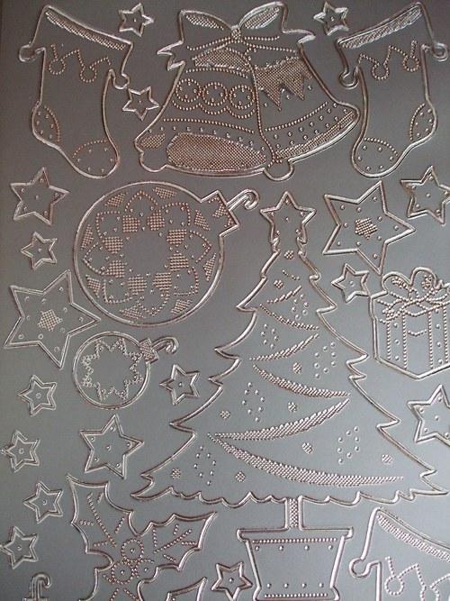 Stříbrné nálepky - Vánoční mix