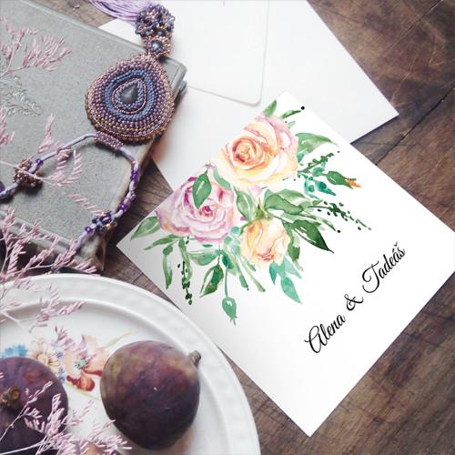 Roses • svatební oznámení