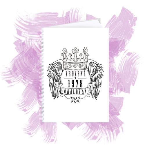 Zápisník s motivem - zrození královny 4