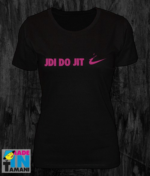 Dámské černé tričko Jdi dojit 02