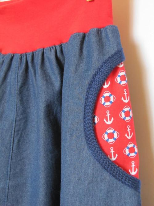 Lehká džínová sukně variabilní A/O