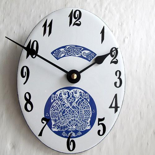 Smaltované hodiny 296