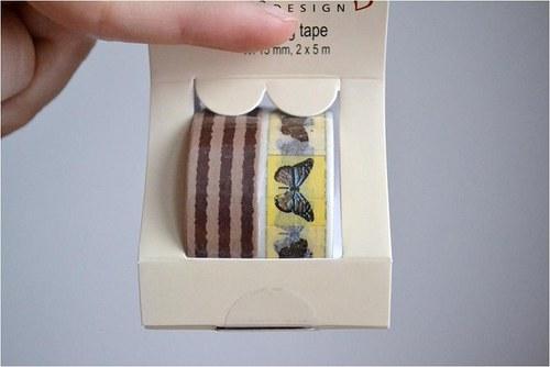 Papírové lepící pásky washi,2 ks 15mmx5m