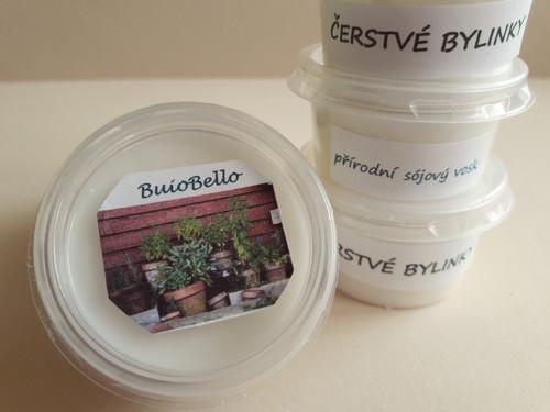 Sójový vonný vosk - Čerstvé bylinky