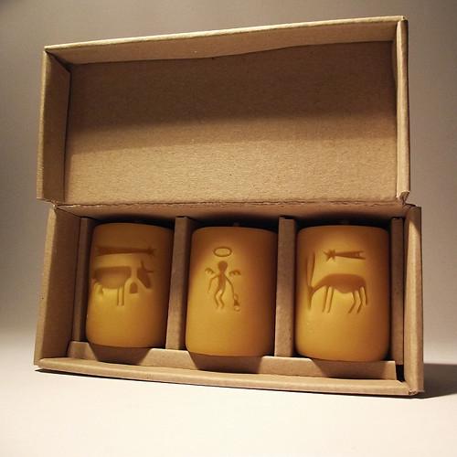 vánoční sada svíček v krabičce  včelí vosk df9f19e669