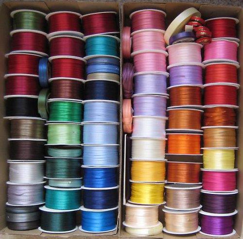 Stuha atlasová oboulícní - různé barvy 11 m