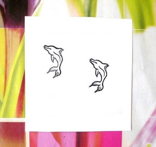 Delfínek. Omyvatelné razítko.Sleva