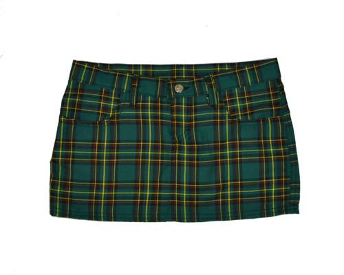 Sukně zelená skotská kostka