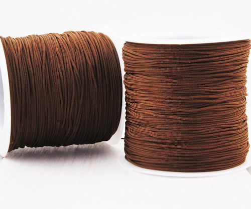 20m 65 22yrd Brown Nylon Kabel Makramé Vlákno Navl