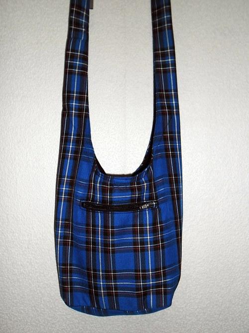 Taškovak modrá skotská kostka