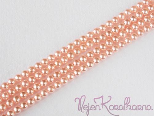 Voskové perle světle růžová 4mm