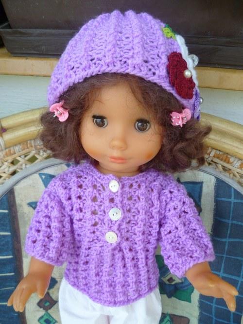 Růžový svetřík pro panenku