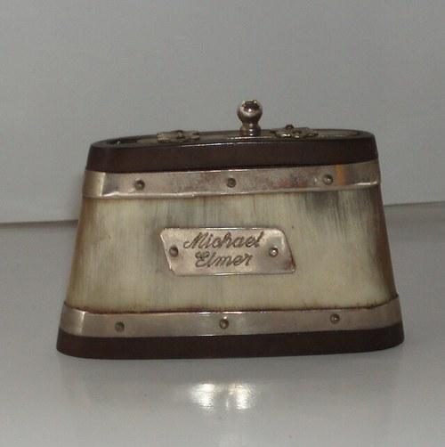 * Krabička na šňupací tabák * Slonovina * 100 let