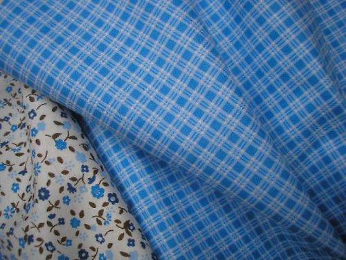 látka - metráž - modrá kostička