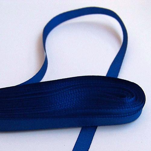 stuha taftová/6mm/ tm.modrá/ 10m