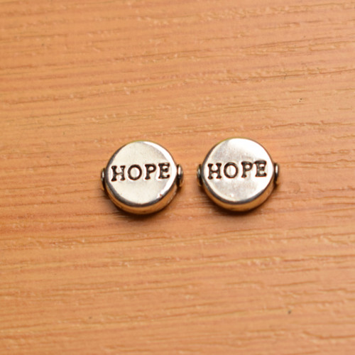 Hope -  starostříbro -10x9 mm.