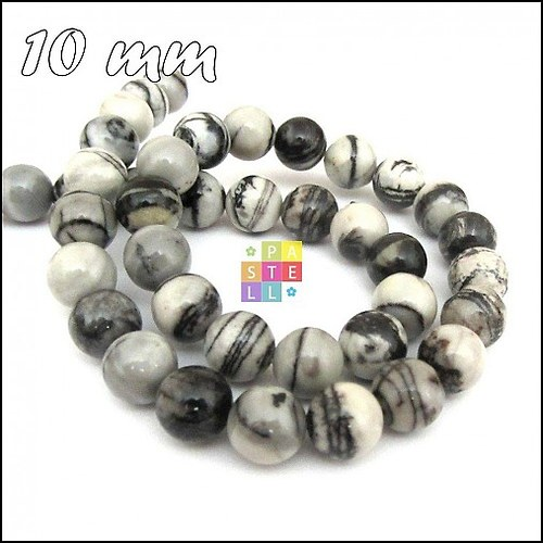 (1395) Jaspis tkaný, 10 mm - 1 ks