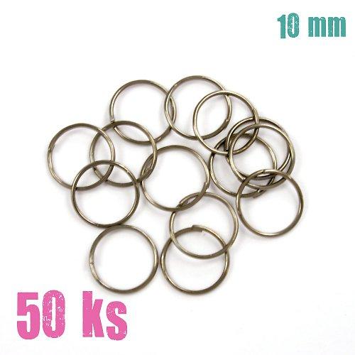 Leskle černé kroužky 10 mm (50 ks)