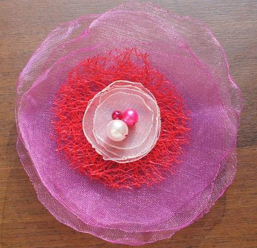 Květinová brož, velká - 07