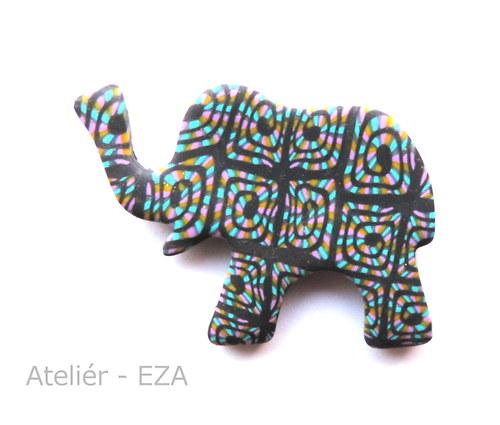 Originální brož - slon pro štěstí SLEVA ze 129Kč