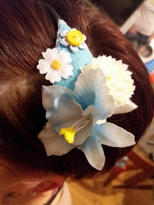 květová čelenka-modrá