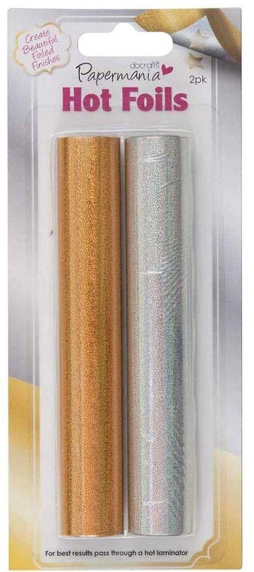 Hot Foil zlatá a stříbrná - třpytivá 2x6 m