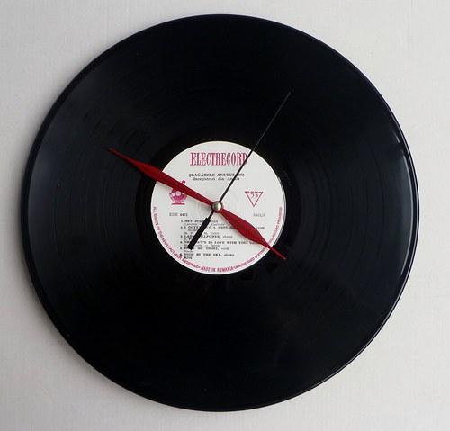 Vinylové hodiny Electrecord