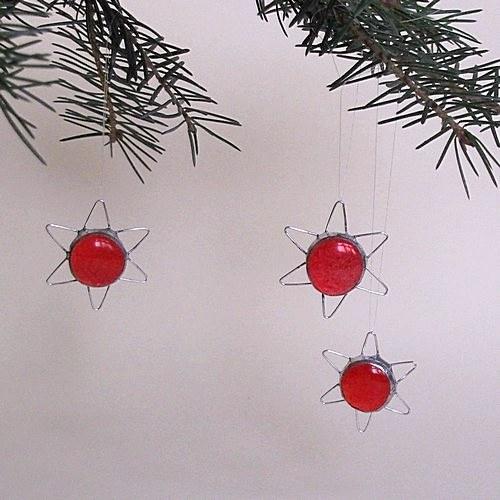 Vianočné dekorácie - Červená hviezdička