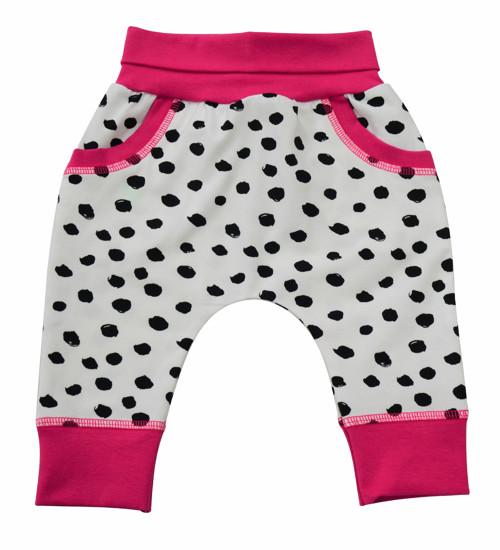 kojenecké tepláčky Dalmatin středně růžová