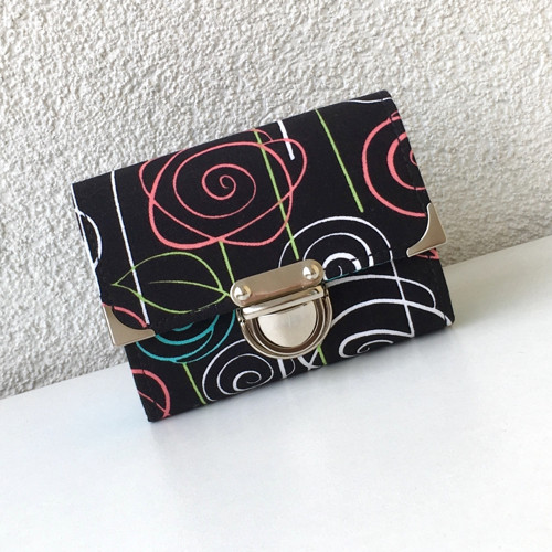 Květinové variace-minipeněženka na karty a doklady