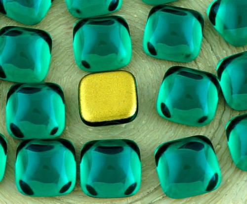 6ks Crystal Tmavě Zelený Smaragd, Jasné, Náměstí č