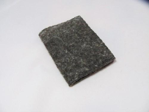 Plstěný obal na knihu A6 - přírodní šedá