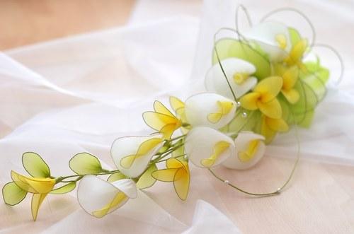 """Nylon flowers \""""Svatební kytice kaly\"""""""