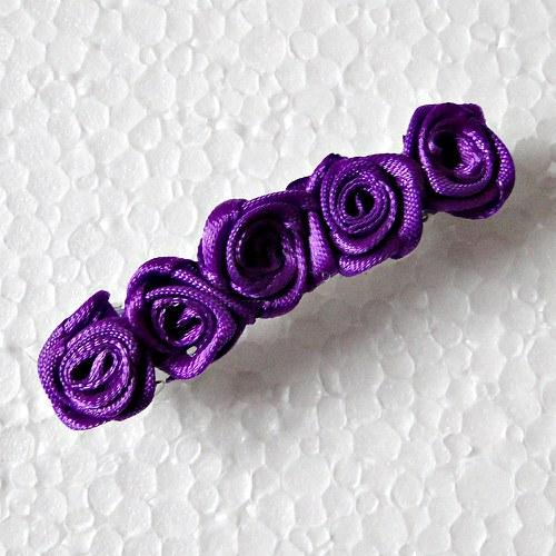 Spona -fialové růžičky