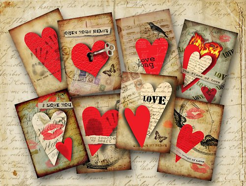 Nažehlovací obrázky - Love - cena za všechny