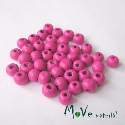 Dřevěný korálek 8x7mm, 7g, růžový