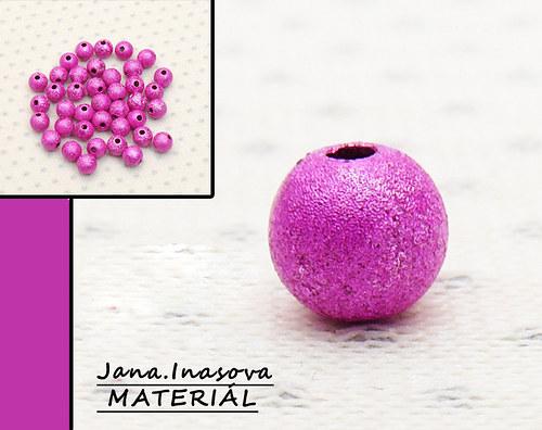 """Akrylové korálky \""""perleťovo růžové\"""" 10 ks"""