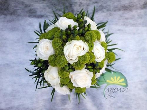Svatební květina ***bílá & zelená