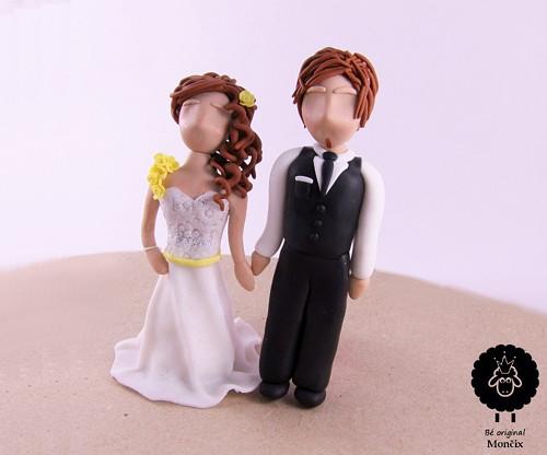 Svatební figurky na dort - Nevěsta s ženichem
