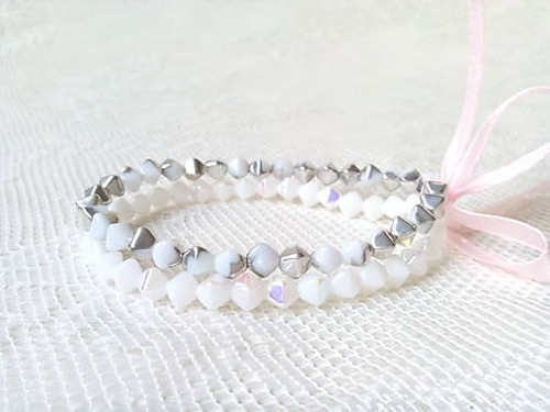 Winter pyramides bracelets