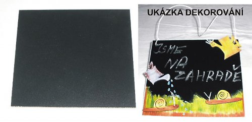 Černá tabulka na křídu 22x18cm