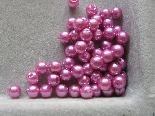 Voskové korálky - růžová  5 mm / 30 ks