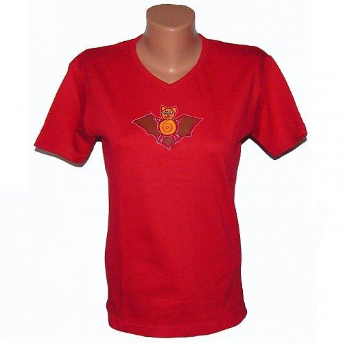 Triko malované - červené