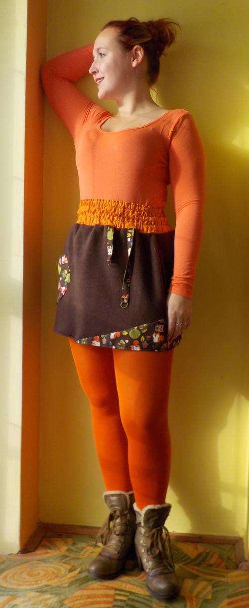 Fleesová sukně Liška