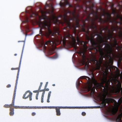 Kuličky 4 mm 90100 rudé 100 ks