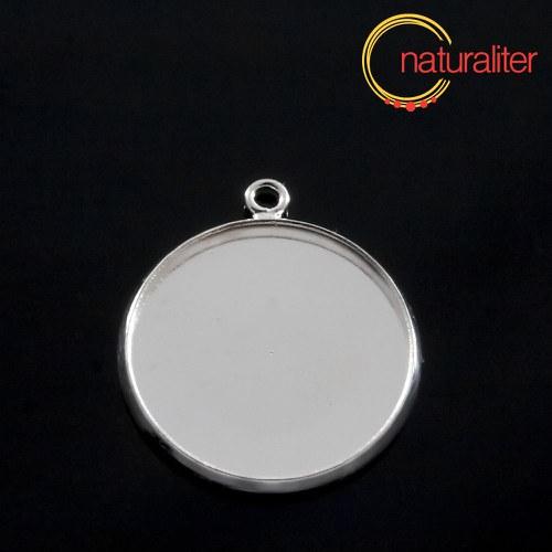 Lůžko kruh 20mm stříbrná barva