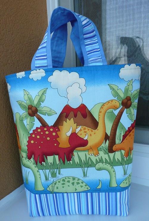 Dino kabelka a košík na hračky 2v1