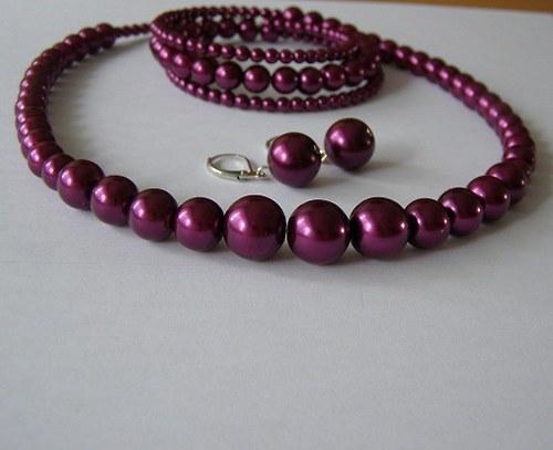 perličkový set-22barev-náhrdelník,náramek,naušnice
