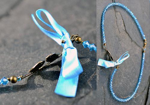 Modrý náhrdelník N0153B